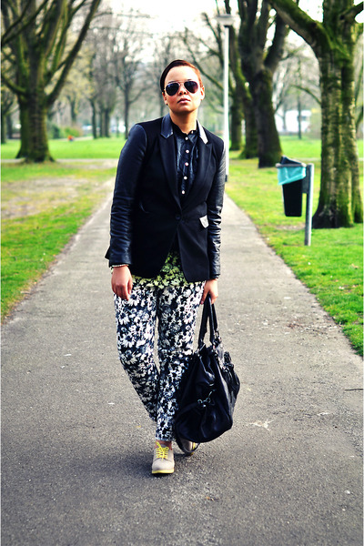 H&M Trend pants - H&M shoes - Mango blazer - Ikks bag
