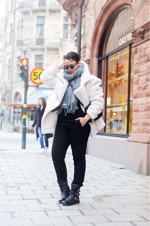 teddy Notion 14 coat - leather costes boots - cotton asos pants