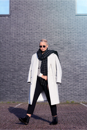 H&M coat - Maruti boots - unknown sunglasses - American Apparel jumper