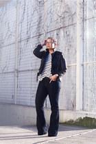 unknown jeans - black caroline blomst jacket - weekday shirt
