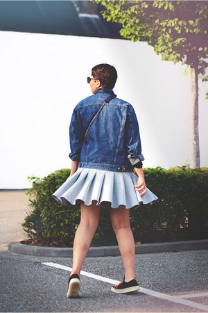 H&M Trend skirt - calvin klein jacket - Chanel bag - mag sneakers