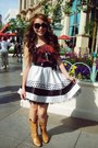 Cowboy-boots-forever21-boots-causal-forever21-top-poufy-forever21-skirt
