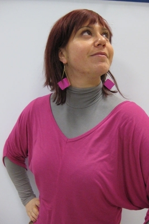 Topshop earrings - Motivi top - Motivi belt - paul weber accessories - top