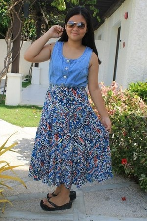 maxi skirt unknown skirt - thrifted dress