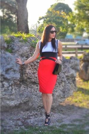 red bodycon dresslinkcom dress