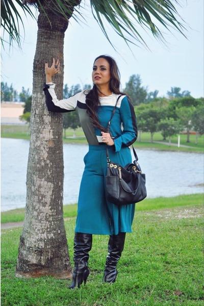 methapor top - Jessica Simpson boots - Michael Kors bag - Metaphor pants