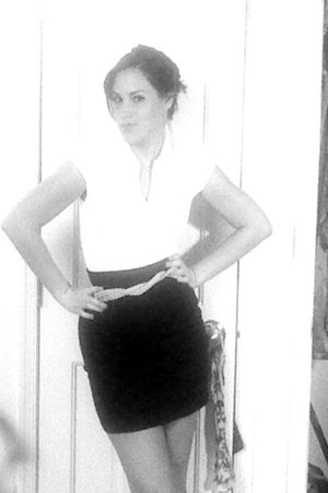 black Heritage 1981 skirt - white Forever 21 shirt - pink H&M belt - blue shoes