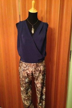 navy handmade shirt - tawny handmade pants