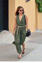 Army green shirtdress