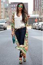 Teal-kimono-sheinsidecom-cardigan