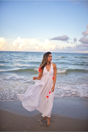 white everything but water dress