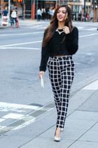 Grid pattern pants