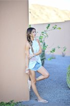 sky blue Revolve shorts
