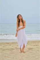 white mara hoffman dress