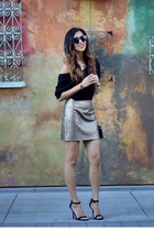 black Express heels