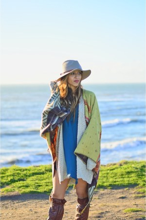 blue asos dress