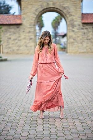 salmon Revolve dress