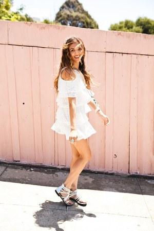 white raga LA dress