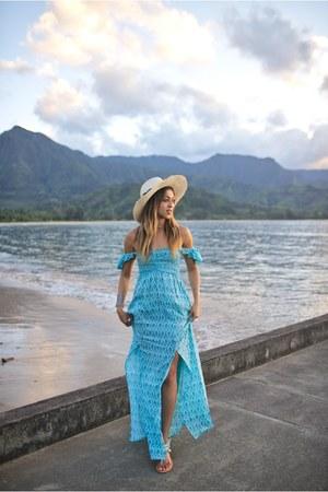 sky blue tiare dress