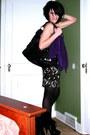 Purple-express-cardigan-black-the-limited-dress-black-nicole-lee-purse-bla