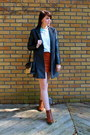Gray-forever-21-coat-burnt-orange-asos-boots-cream-gap-sweater