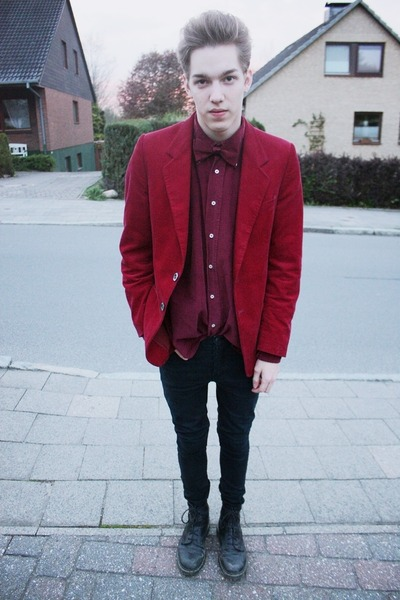 ruby red vintage blazer - black Cheap Monday pants
