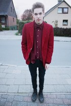 ruby red vintage blazer - black Cheap Monday pants
