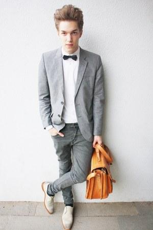 periwinkle H&M blazer - charcoal gray H&M pants