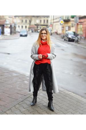 red BonPrix sweater