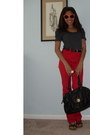Red-high-waisted-acne-jeans-black-urban-outfitters-bag
