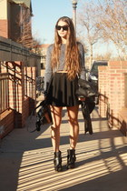 Dolce Vita boots - H&M sweater - GoodNight Macaroon skirt