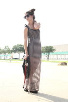 harness Dolce Vita boots - sheer maxi Urban Outfitters dress