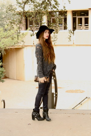 shredded Sugarlips sweater - Dolce Vita boots - wax Zara jeans