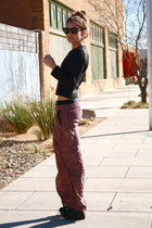 trousers Zara pants - wax H&M sweater - Aldo wedges