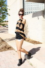 Zoe-boot-sam-edelman-boots-stripped-h-m-sweater-cutoffs-levis-shorts