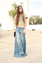 wide leg free people jeans - the who vintage top
