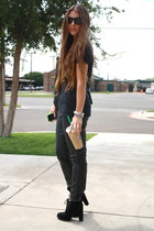 lace-up Dolce Vita boots - leather Urban Outfitters pants - nirvana top