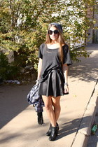 leather American Apparel skirt - zoe boots sam edelman boots