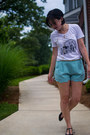 White-dressing-on-the-side-shirt-aquamarine-everly-shorts