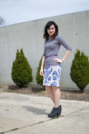 white merona skirt - dark gray Blowfish boots - heather gray H&M shirt