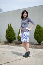 white merona skirt - dark gray Blowfish boots - heather gray H&M shirt