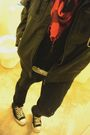 Black-grave-soul-jacket-red-hot-topic-scarf-blue-social-collisions-jeans-s