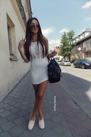 white Sheinsidecom dress