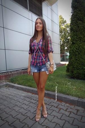 blue Sheinsidecom shorts