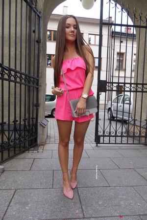 hot pink Romwecom romper