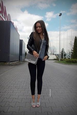heather gray Sheinsidecom bag