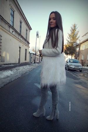 white shein coat