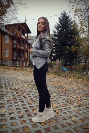 heather gray Sheinsidecom jacket