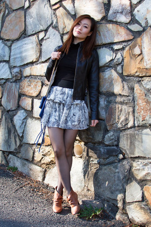 Nine West boots - Forever21 dress - Express jacket - H&M shirt - Rebecca Minkoff