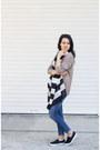 Navy-zara-jeans-tan-h-m-sweater-white-bershka-scarf